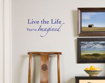 Wall Decals Wall Words Wall Stickers - Live the Life