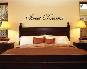 Wall Decals Wall Words Art Wall Stickers Vinyl Lettering Home Decor- Sweet Dreams