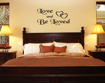 Wall Decals Wall Words Art Wall Stickers Vinyl Lettering -  Love and Be Loved