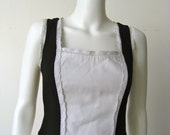 Chic Moschino Black and White Corset Style Top