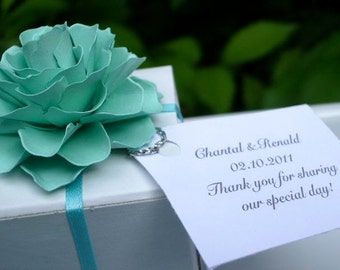 The Rosetta Paper Flowers  - Pack of 50 - Made To Order - Box  and Tag are NOT included - available upon request