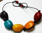 The Coloured Soul Adjustable Tagua & Acai Berry Necklace Eco Friendly Unisex