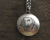 Your Labrador's Photo Reliquary Locket Pendant