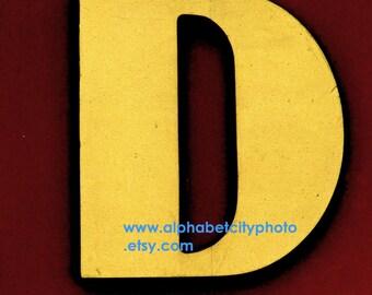 LETTER D No.1 5x7 Vertical Photo, COMIC BOOK, Alphabet Letter Photos