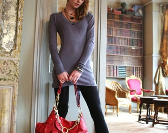 Leather Over Sized Messenger handbag. Handmade for you.