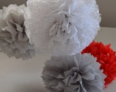 Tissue Paper Pom Pom Set of 50 - Your Colors Wedding Decorations