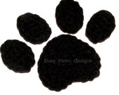 Crochet PATTERN - Paw Print Applique - Easy - Great for many projects - PDF 204- SELL what you make