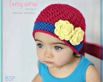 CROCHET Hat PATTERN - The Bella Rose Beanie - Sizes from Preemie to Adults - EASY Boutique Hat Pattern - pdf 120 - sell what you make