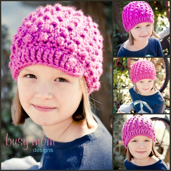CROCHET Hat PATTERN - Knobby Noggin Newsboy - ALL Sizes included - Preemie to adults - Easy - pdf 123