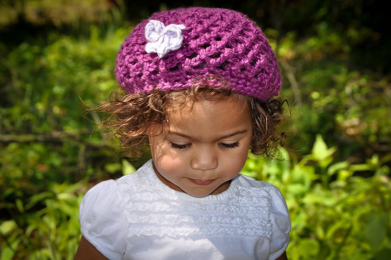 Crochet Beret Hat Pattern Easy : Crochet Hat Pattern Easy Breezy Beanie or Beret All sizes