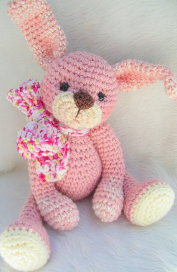 Crochet Pattern Huggable Bunny by Teri Crews instant download PDF format Crochet Toy Pattern
