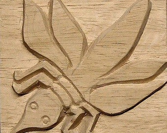 African Bee, African Printing Block Textile Stamp - Oshiwa Carved Wood Printing Stamp, 4.5''x 4.5'', Item 8-6-8