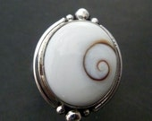 Shiva Eye Silver Ring - Handmade Sterling Silver Silver Ring - Made to Order