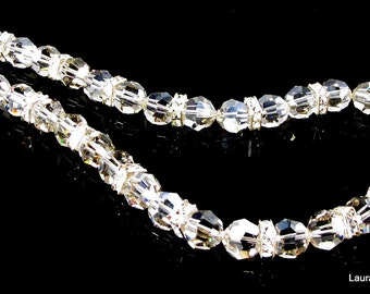 "LP 260  Heirloom Quality, Swarovski Crystal and Rhinestone Bridal Necklace         "" One Of A Kind """