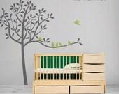 Bird Tree Wall Decal - Tree wall Decal - Vinyl Wall Decal - Large Tree Wall Decal - Children Wall Stickers - Nursery Wall Decal - 0049