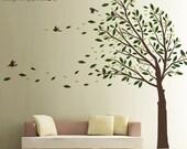 Tree Wall Decal - Wall Sticker - Elegant Modern Home Wall Art - 0087