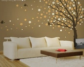 Cherry Blossom Tree Wall Decal - Large Tree Wall Decal - Large Tree Decal - 0088
