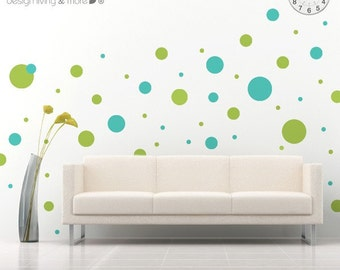 Polka Dot Decals - 2 colors - Children wall stickers - 0029