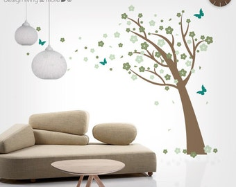 Kids Wall Decal - Cherry Blossom Tree Decal - Nursery Tree Decal
