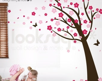 Cherry Blossom Tree Wall Decal - Blossom Tree Decal - Children Wall Decal