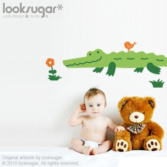 Baby Nursery Wall Decals - Alligator Wall Stickers - 0009