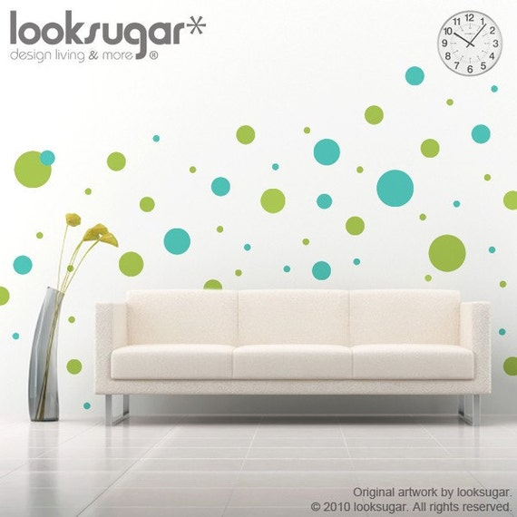Polka Dot Wall Stickers - 2 colors - 0029