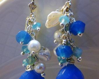 O So Cobalt Blue Earrings