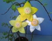Daffodil, Jonquil, and Narcissus Felt Flower Ornaments