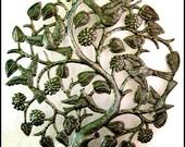 Metal Art of Haiti - Birds, Flowers, Tree Wall Hanging - Haitian Art - Handcrafted Haitian Recycled Steel Drum Metal Wall Decor - H-434