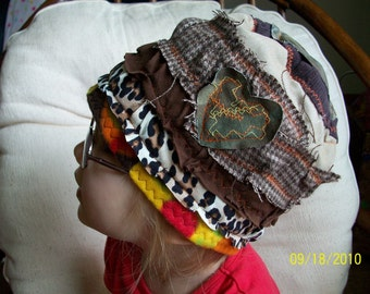 customize your Lid For Your Melon eco friendly patchwork layered hat by Claudia Fill
