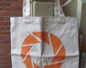 Aperture Science Two Sided Portal Canvas Tote Bag