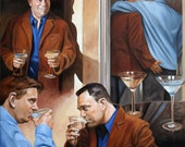 Love Story, by Kenney Mencher oil on linen canvas 48x70x1.5 (gay art)