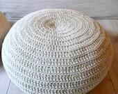 Floor Cushion Crochet- ecru