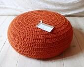 Floor Cushion Crochet Orange - THE LAST