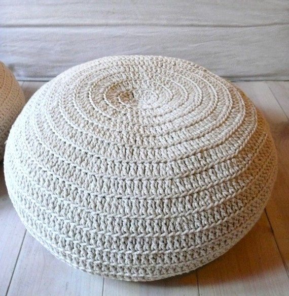 Floor Cushion Crochet- ecru