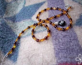 """Sanskrit """"Love Potion Number Nine"""" Necklace"""