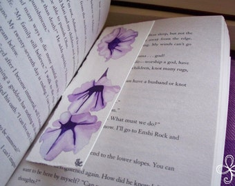 Purple Morning Glory Bookmark