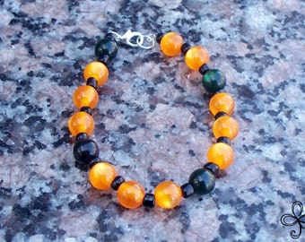Black and Orange Cat's Eye Bracelet