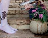 Printed Socks - Rose , Tattoo Sock / women socks