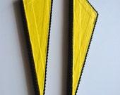 Fancy Tale Yellow Earrings