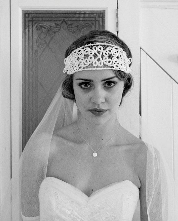 Art Nouveau 1920s 1910s Bridal Headpiece Headdress Flapper