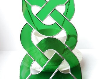 Irish Celtic Knotwork Stained Glass Suncatcher made in Ireland Christmas Gift