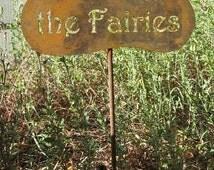 Don't Piss Off the Fairies Yard Garden Sign