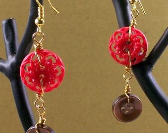 Mothers Button Earrings