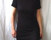 Black T-Shirt Dress, Black Shift Dress, Black Knit Dress, Little Black Dress