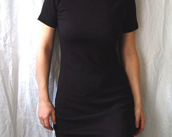 Black T-Shirt Dress, Black Shift Dress, Black Knit Dress, Little Black Dress