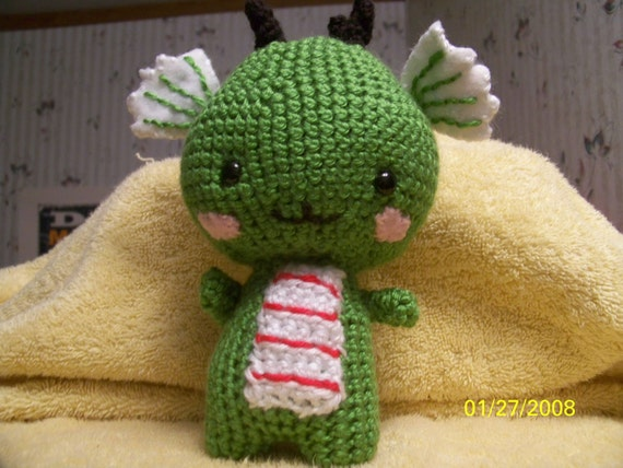 Crochet dragon baby  crochet monster ANY colors you want