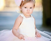 Blush Bow Headband--Headband or Clip--Flower Girls--Bridesmaids--Portraits