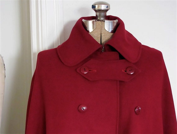 The Burgundy and Gold 1940's Nurse's Cape