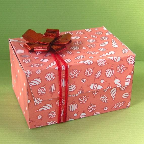 Diy Christmas Favor Boxes : Printable christmas gift boxes templates diy favor box